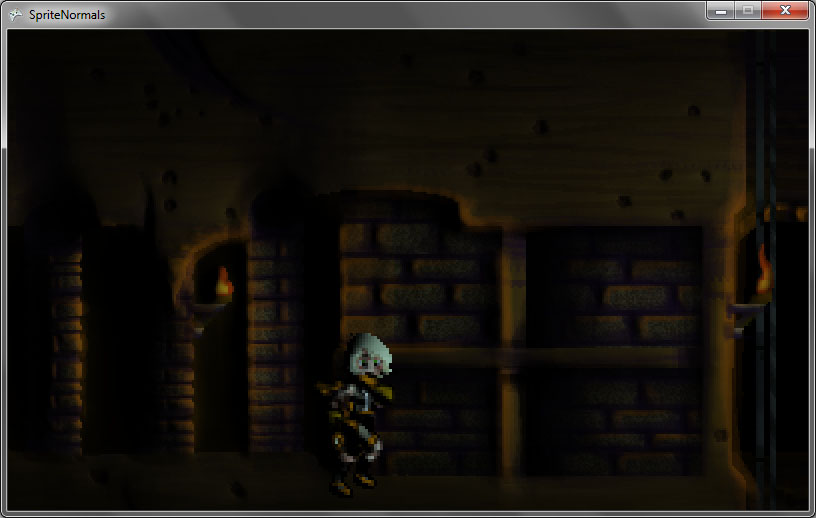 Screenshot of normal-mapped lit scene