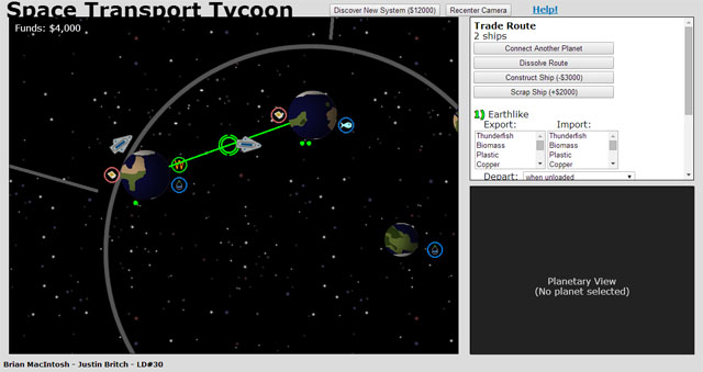 Space Transport Tycoon screenshot